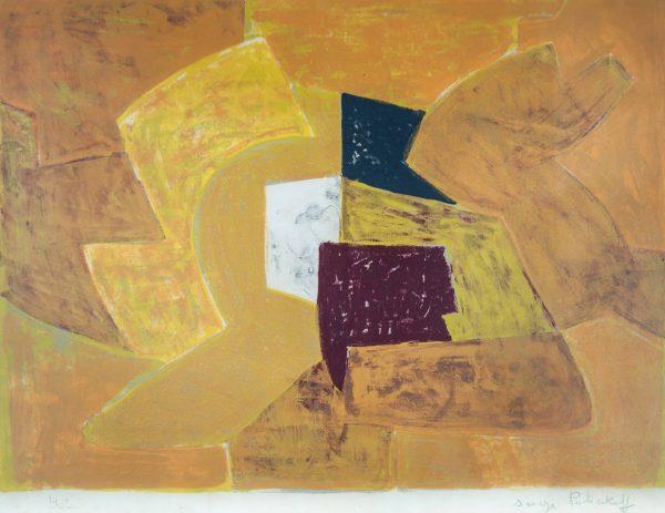 Serge Poliakoff Composition orange 1741