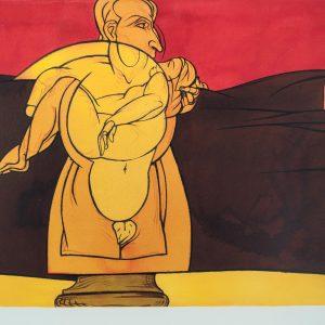 Valerio Adami Paysage de la reine 180