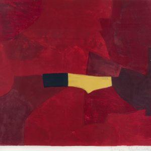 Serge Poliakoff Composition lie-de-vin, jaune et noire 832