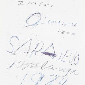 Original poster Sarajevo Cy Twombly 501