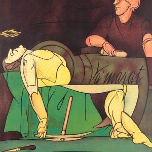 Valerio Adami La mort de Marat 169