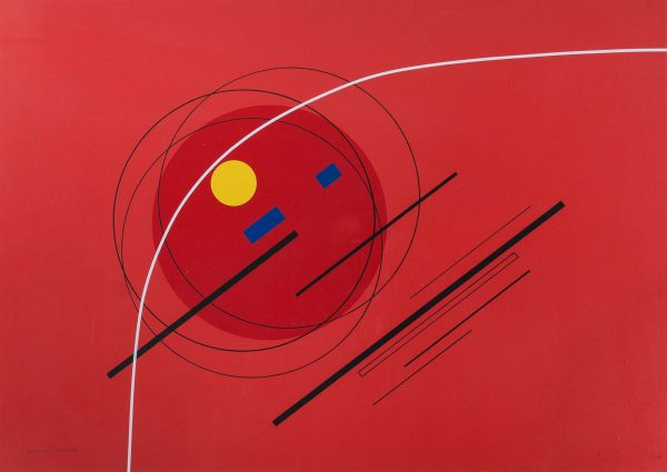 Luigi Veronesi Composition in red 731