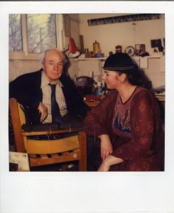 Henry Moore and Živa Škodlar Vujić in England.