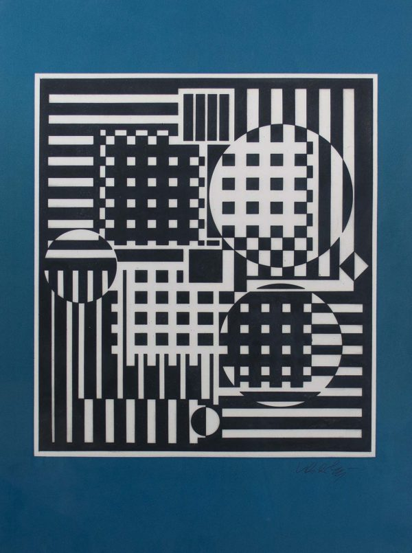 Victor Vasarely Hommage a Bach I 693