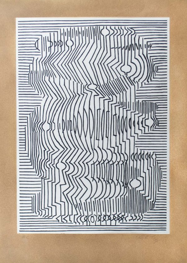 Victor Vasarely Hommage a Bach II 694