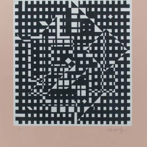 Victor Vasarely Hommage a Bach IV 696
