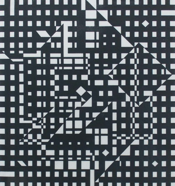 Victor Vasarely Hommage a Bach V 697