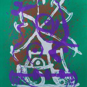 Joan Miró Horse Ride-Green, Violet, Brown 293
