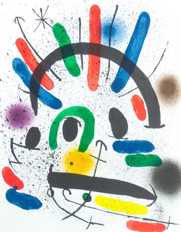 "Joan Miró Litografia original IIl: ""Joan Miró Lithographs Volume I"", printed in France by Mourlot 1579"