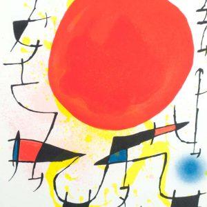 "Joan Miró Litografia original IlI: ""Joan Miró Lithographs Volume I"", printed in France by Mourlot 1580"