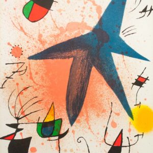 "Joan Miró Litografia original V: ""Joan Miró Lithographs Volume I"", printed in France by Mourlot 1655"