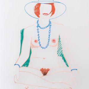 Tom Wesselmann Monica Cross-legged with Beads 1705