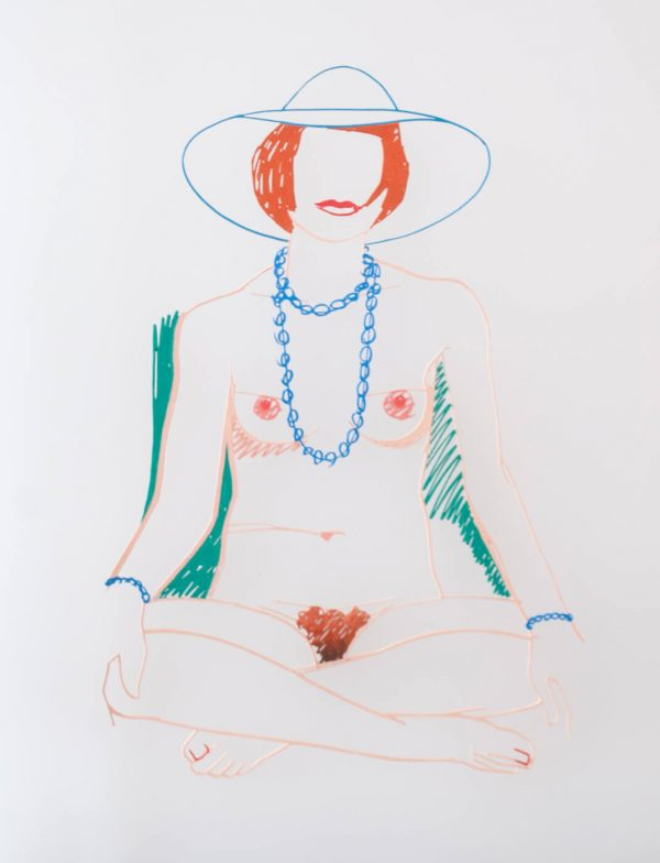 Tom Wesselmann Monica Cross-legged with Beads 1705