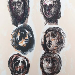 Henry Moore Six Heads Olympians 1301