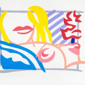 Tom Wesselmann Study for Bedroom Blonde with Lavender Wallpaper 1708