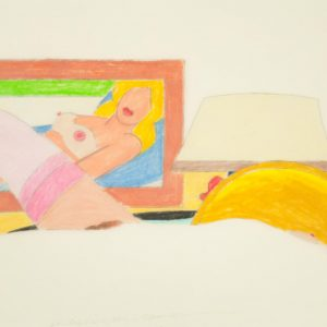 Tom Wesselmann Study for Drop-out Nude with Pink Stockings 1704