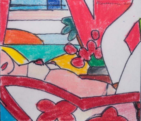 Tom Wesselmann Study for Sunset Nude (Variation 5) 1700