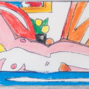 Tom Wesselmann Study for Sunset Nude with Abstract Painting (Lying on Side) 1703