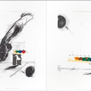 Vladimir Veličković Tennis diptych - made for the Zurich women's open tennis tournament 945